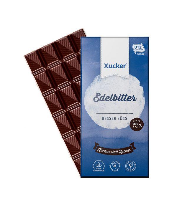 Xucker Edelbitter 75% (Xylit-Schokolade)
