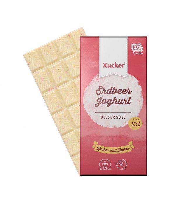 Xucker Erdbeer-Joghurt (weiße Xylit-Schokolade)