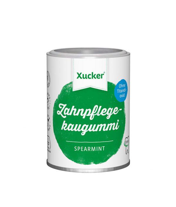 Xucker Xylit-Kaugummi Typ Spearmint, ohne TiO2