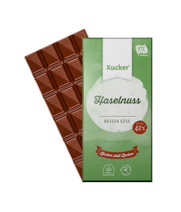 Xucker Edel-Vollmilch mit Haselnuss (Xylit-Schokolade)