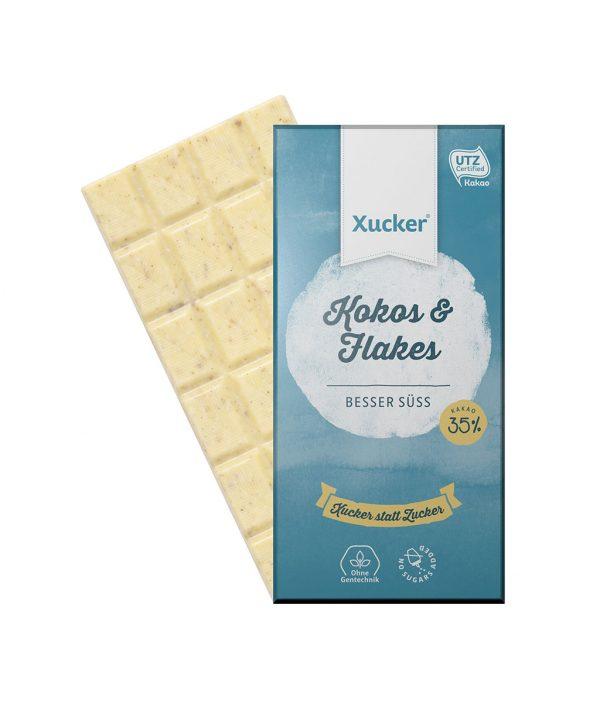 Xucker Kokos & Flakes (weiße Xylit-Schokolade)