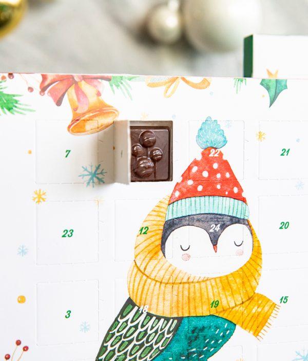 Adventskalender mit Edelbitter-Schokolade