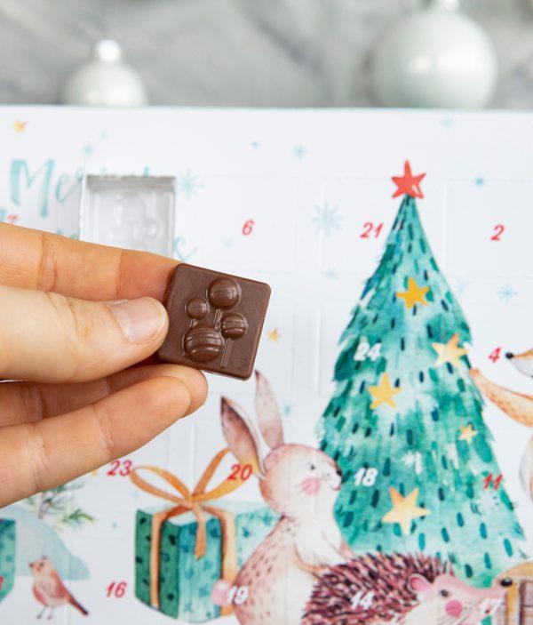 Adventskalender mit Vollmilch-Schokolade