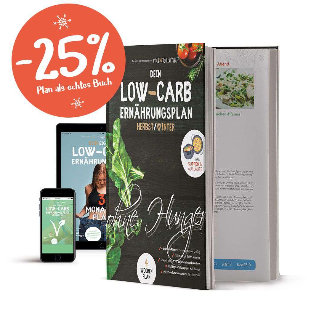 Der Low-Carb Ernährungsplan von Essen ohne Kohlenhydrate