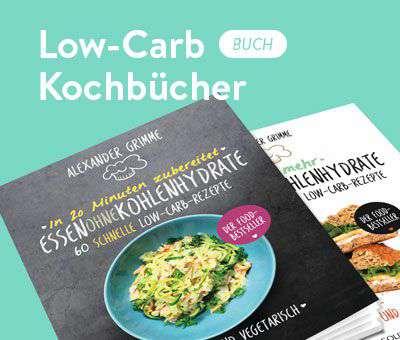 Low-Carb Kochbücher von Essen ohne Kohlenhydrate