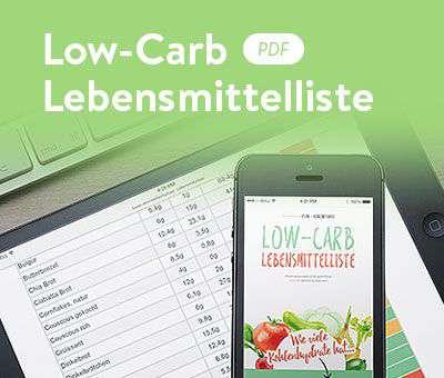 Low-Carb Lebensmittelliste