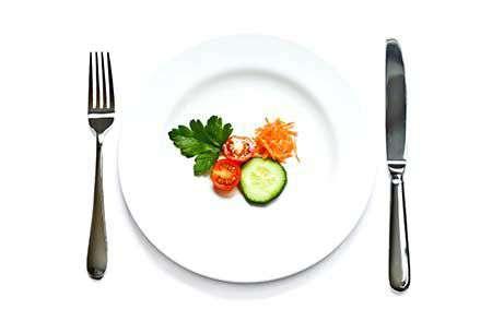 Zu wenig zu essen ist nicht gut