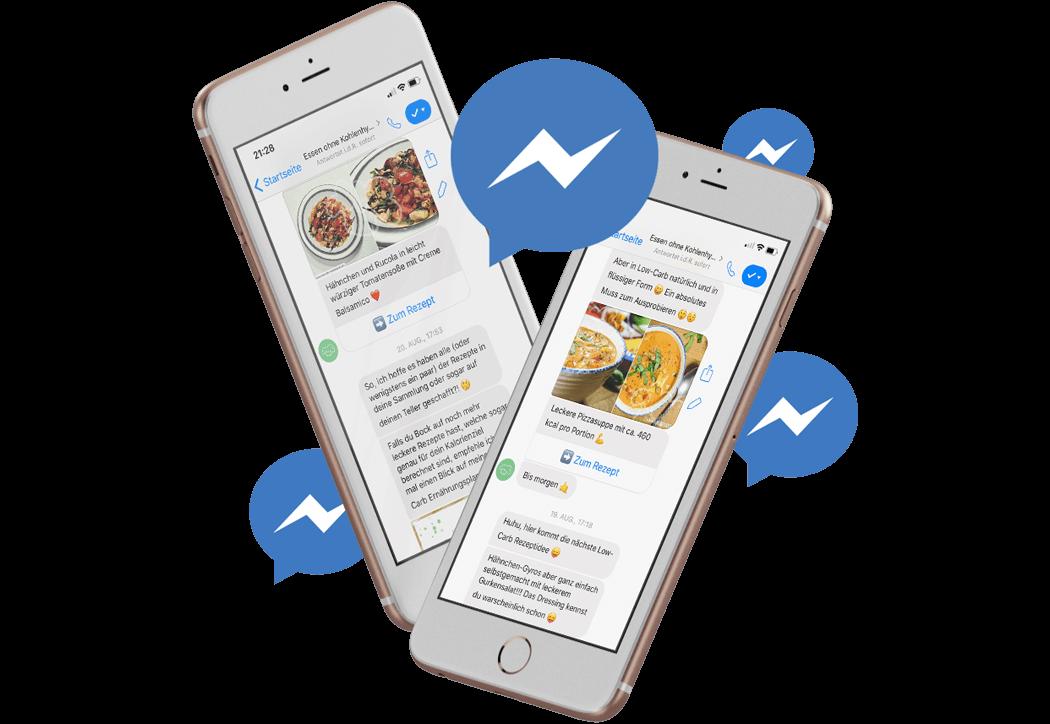Erhalte Angebote und News über den Facebook-Messenger
