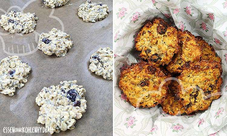Chia Cranberry Protein-Cookies