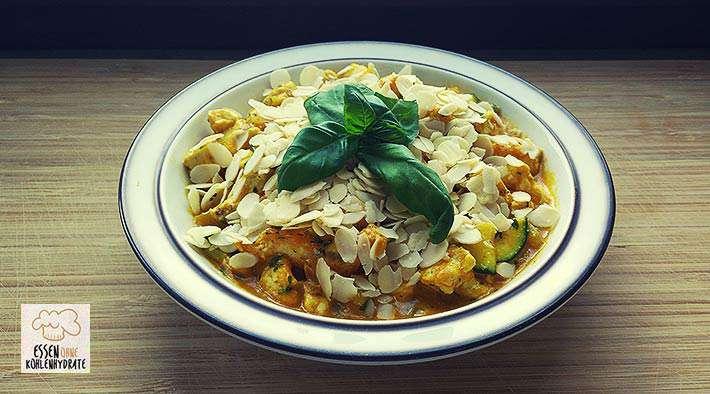 zum Rezept Leckeres Low-Carb Chicken Korma Curry