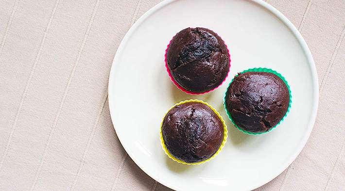 zum Rezept Schoko-Bananen-Protein Muffin