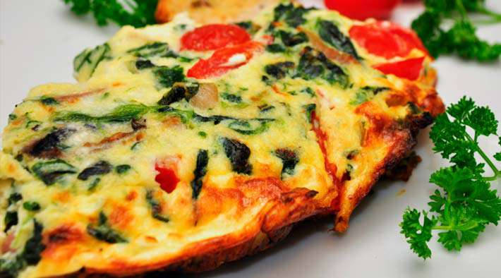 low carb spinat feta frittata low carb rezepte. Black Bedroom Furniture Sets. Home Design Ideas