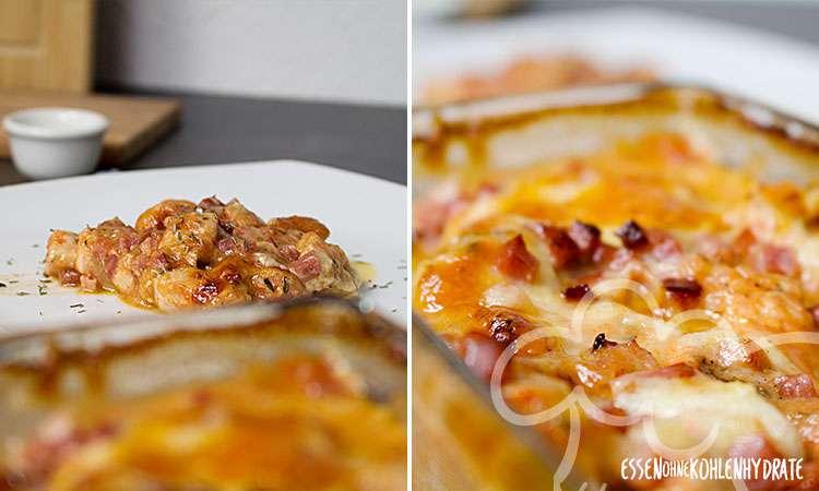 zum Rezept Low-Carb Mozzarella-Putengratin