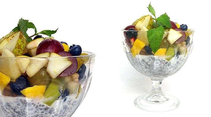 zum Rezept Leckerer Chia-Früchtejoghurt