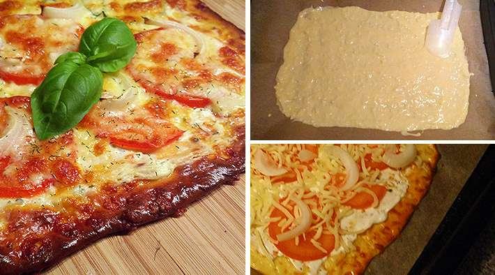 zum Rezept Leckerer Low-Carb Flammkuchen (Tomaten & Zwiebeln)