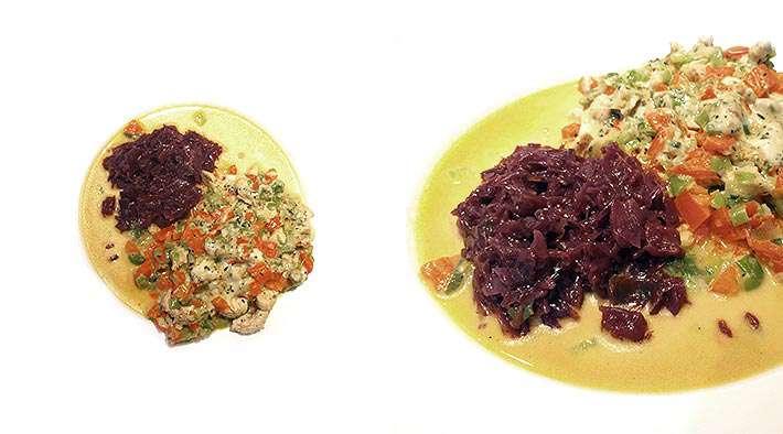 zum Rezept Gemüse-Putengratin mit Rotkraut