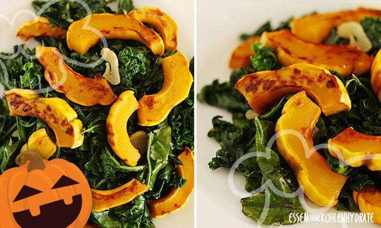 zum Rezept Leckerer Kürbis-Grünkohl-Salat