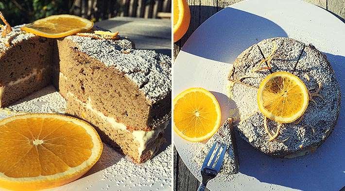 zum Rezept Low-Carb Mandel-Orangenkuchen