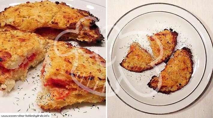 zum Rezept Mini Low-Carb Calzone aus Blumenkohl
