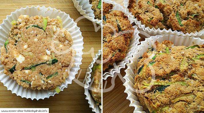 Leckere Low-Carb Zucchini-Feta-Muffins