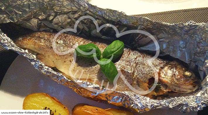 zum Rezept Frische gebackene Forelle
