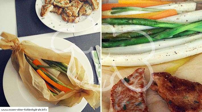 zum Rezept Ofen-Gemüse aus dem Pergament