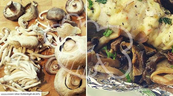 Leckere gemischte Pilzpfanne