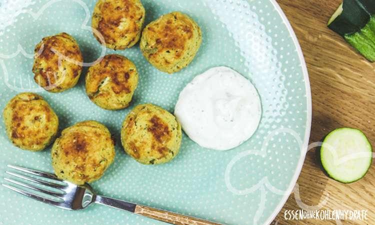 zum Rezept Low-Carb Zucchinibällchen mit Käse