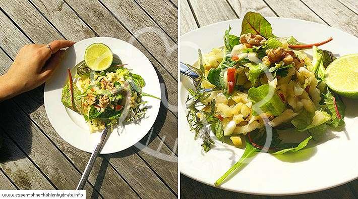 zum Rezept Leckerer Apfel-Fenchel-Salat mit gerösteten Walnüssen