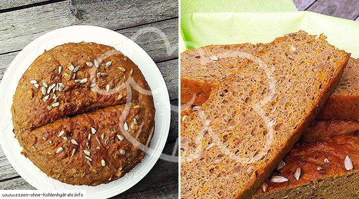 Leckeres Low-Carb Karottenbrot