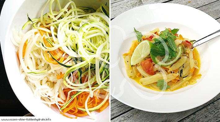 zum Rezept Leckere gemischte Gemüse-Nudelpfanne