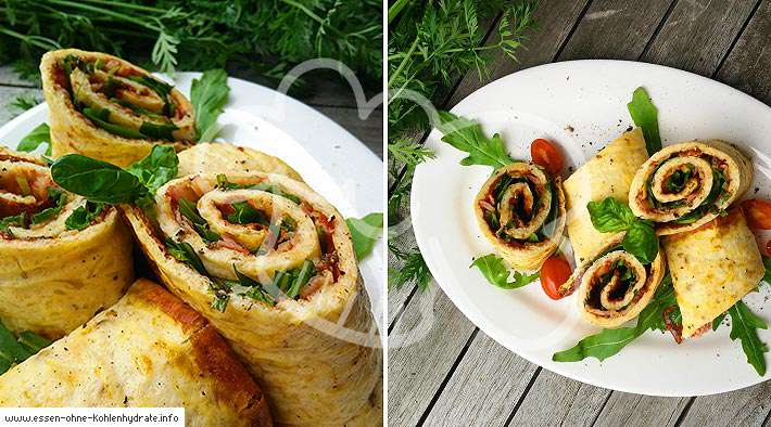 zum Rezept Low-Carb Pizzarolle