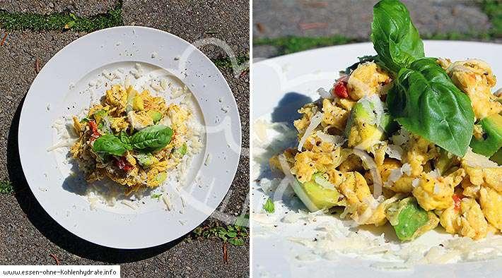 zum Rezept Avocado-Parmesan-Rührei