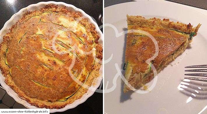 Low-Carb Blumenkohl-Tarte mit Zucchini