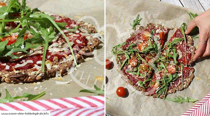 Low-Carb Chia-Mandel-Pizza
