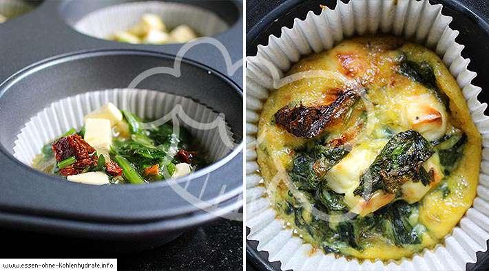 zum Rezept Leckere Spinat-Feta-Frittatas