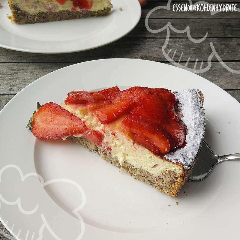 ᐅ Low Carb Erdbeer Quarkkuchen Low Carb Rezepte Essen Ohne