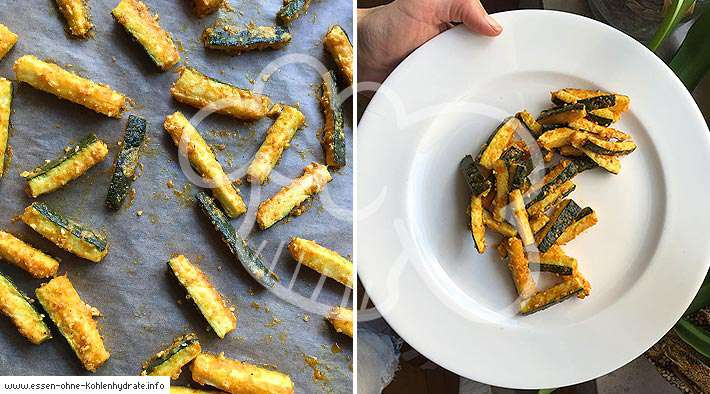 zum Rezept Low-Carb Zucchini-Pommes