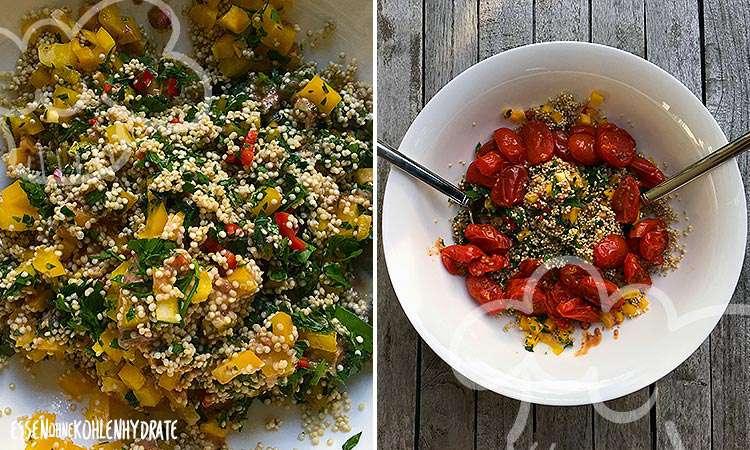 Quinoa-Salat mit Cranberrysauce