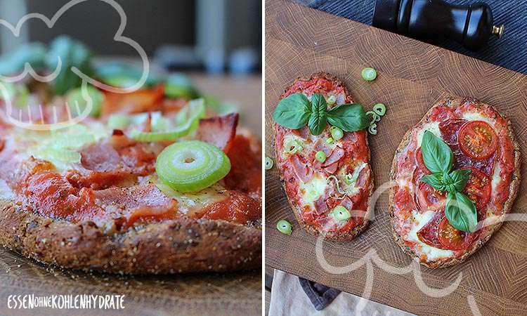 zum Rezept Low-Carb Pizza-Baguettes