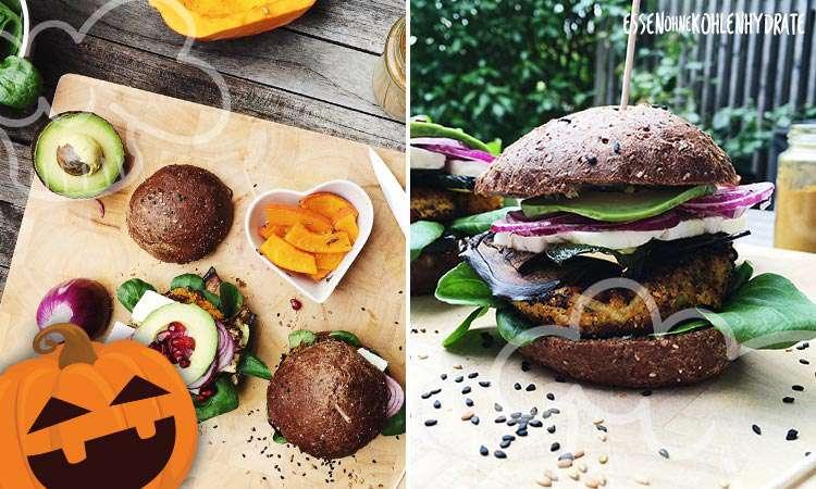 Veggie-Burger mit Kürbisfleisch