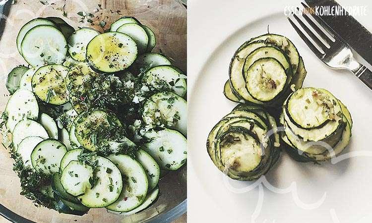 zum Rezept Zucchini Türmchen