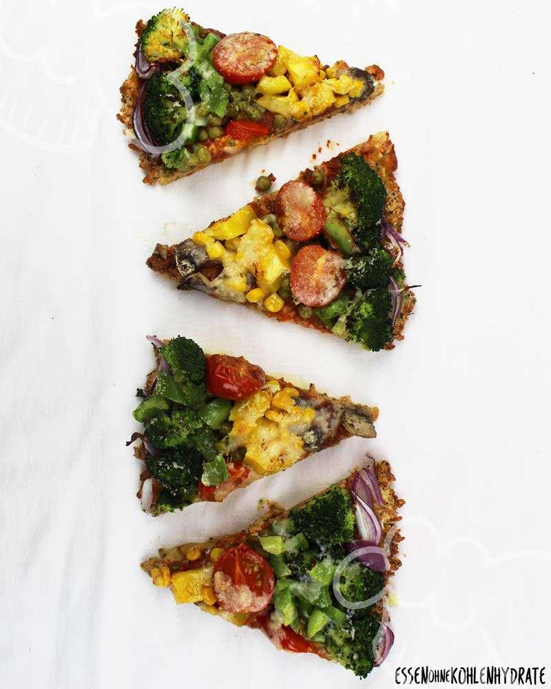 Low Carb Pizza Vegetarisch