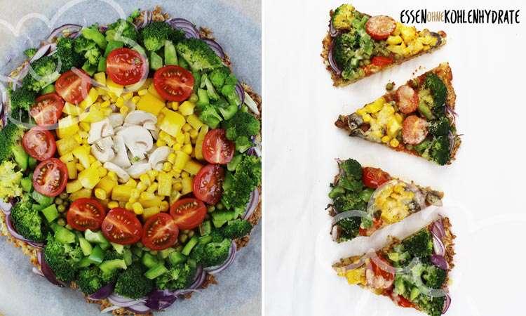 zum Rezept Regenbogen Pizza