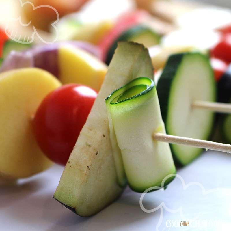 Vegetarischer Grillspieß