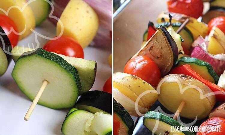 zum Rezept Vegetarischer Grillspieß