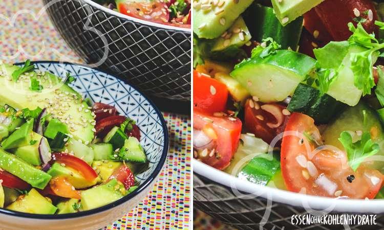 zum Rezept Gurken-Avocado-Tomaten-Salat