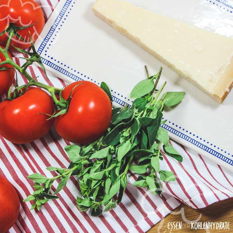 Ofentomaten mit Parmesan