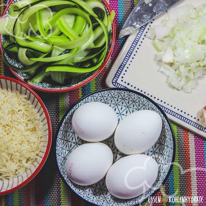 Omelette mit Zucchini