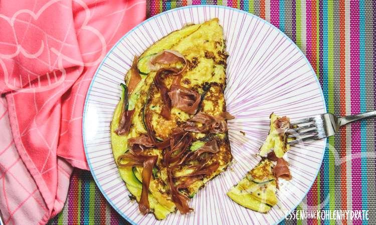 zum Rezept Omelette mit Zucchini